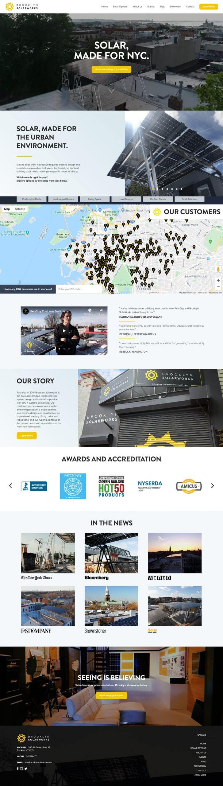 brooklyn solarworks brooklyn web design bushwick design