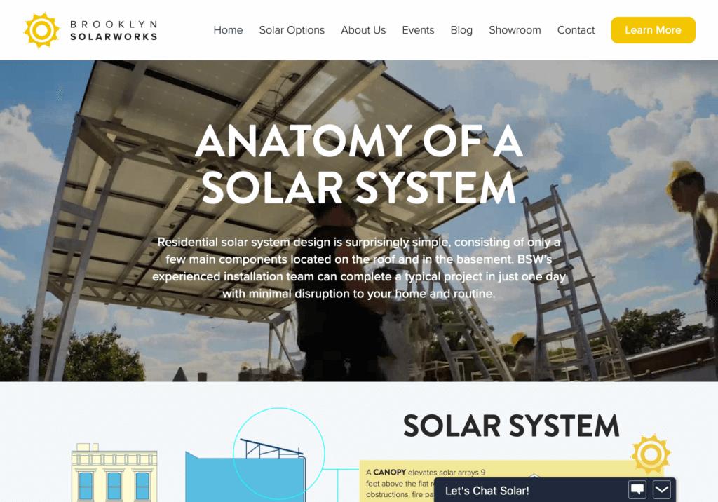 brooklyn solarworks ipad brooklyn web design bushwick design