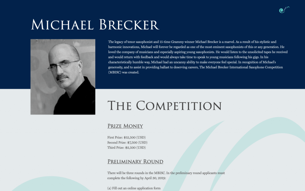 michael brecker desktop brooklyn web design bushwick design