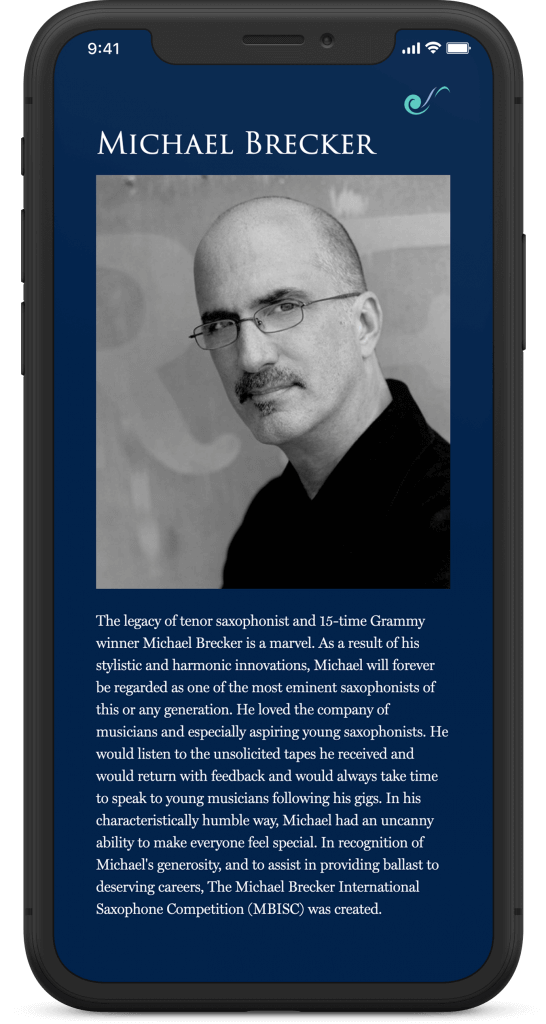 michael brecker mobile brooklyn web design bushwick design