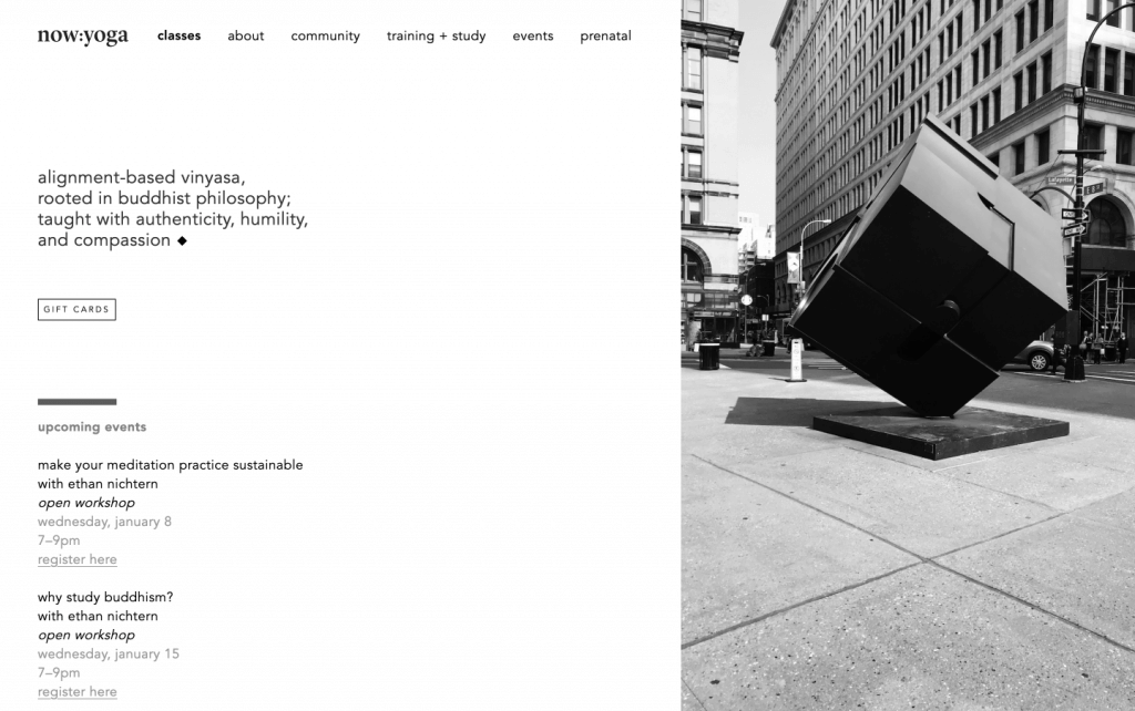 now yoga laptop brooklyn web design bushwick design