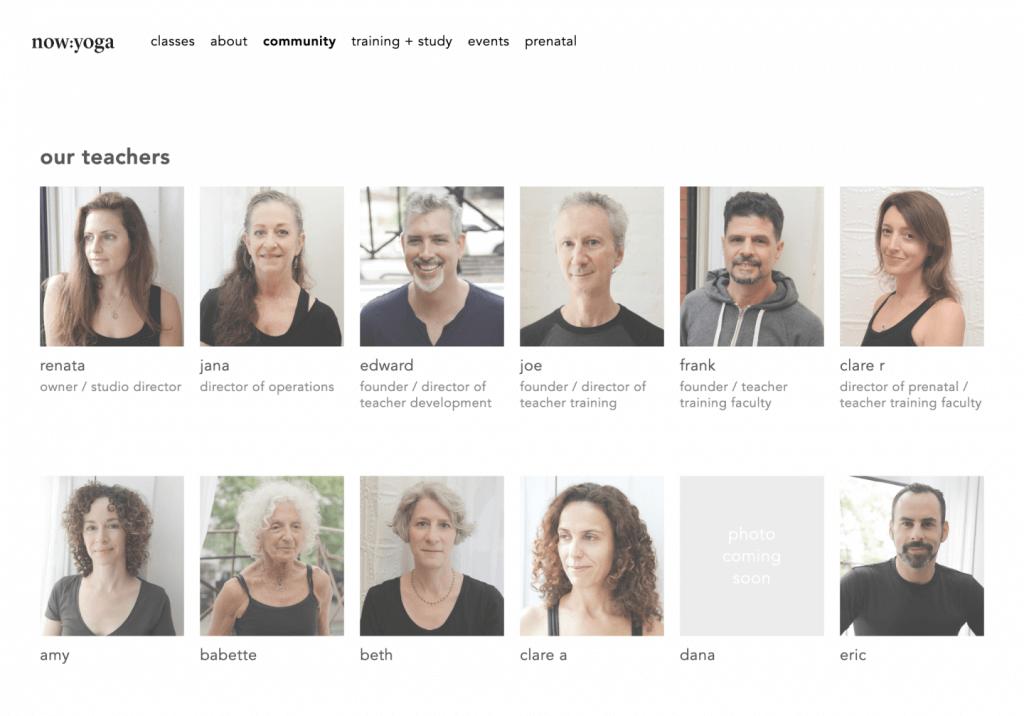now yoga tablet brooklyn web design bushwick design