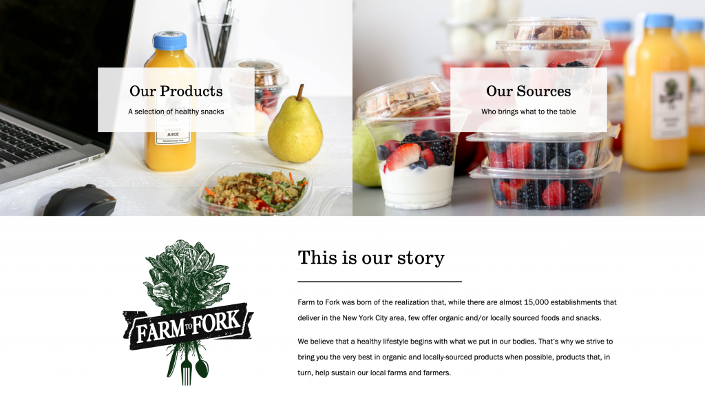 farm to fork desktop brooklyn web design bushwick design