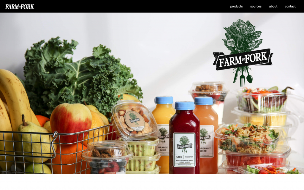 farm to fork tablet brooklyn web design bushwick design