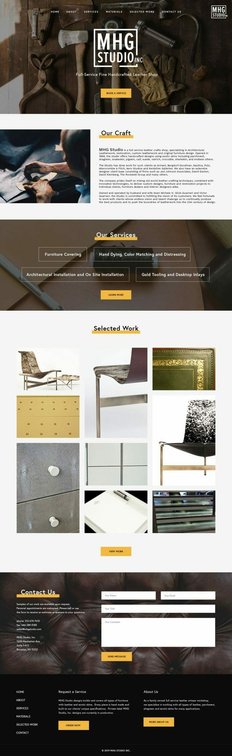 mhg studio home fullpage brooklyn new york web design bushwick design